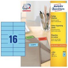Avery Zweckform Etikete 3453 105X37, modre, zavitek 100 listov