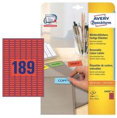 Avery Zweckform Etikete L6036-20 RDEČE