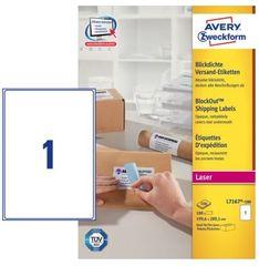 Avery Zweckform etikete L7167-100, 199.6 x 289.1 mm, bele