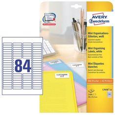 Avery Zweckform etikete L7656-25, 46 x 11,1 mm, zavitek 25 listov, bele