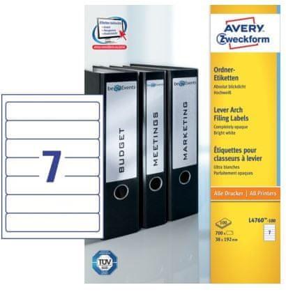 Avery Zweckform etikete L4760-100 192 X 38, 100 listov