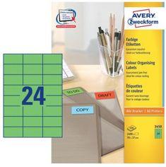 Avery Zweckform Etikete 3450 70X37, zelene, zavitek 100 listov