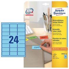 Avery Zweckform Etikete L6032-20, 63,5 x 33,9 mm, 480 kom, Stick&Lift, modre