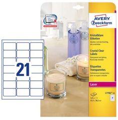 Avery Zweckform etikete L7782-25 63,5 x 38,1 mm, prozirne, 25 listova
