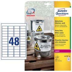 Avery Zweckform etikete L4778-20 245,7 x 21,2 mm, bele, zavitek 20 listov