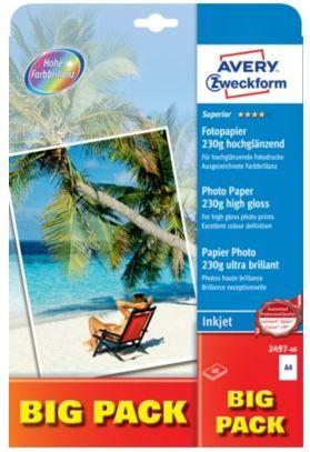 Avery Zweckform Foto papir 2497-40, A4, 40 listov