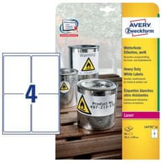 Avery Zweckform etikete L4774-20 99,1 x 139 mm, bele, zavitek 20 listov
