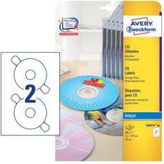Avery Zweckform Etikete C6074-20 za označevanje CD/DVD medijev, svetleče