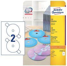 Avery Zweckform etikete L7676-25 za označevanje CD/DVD medijev, bele