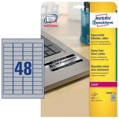 Avery Zweckform etikete L6009-20 45,7 x 21,2 mm, srebrne, zavitek 20 listov