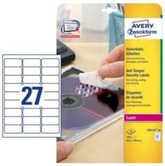 Avery Zweckform sigurnosne naljepnice  L6114-20 63,5 x 29,6 mm, 20 listova