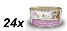 Applaws mokra karma dla kota Mackerel & Sardine 24 x 70g