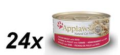 Applaws mokra hrana za mačke, piščančje prsi in raca, 24 x 70 g