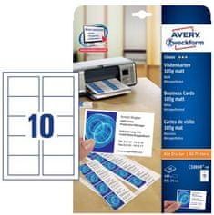 Avery Zweckform Papir za vizitke C32010-10, mikroperforirane, dvostranske