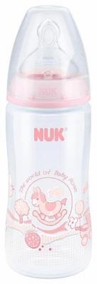 Nuk steklenička First Choice plus PP , 300 ml, silikonska 1M roza