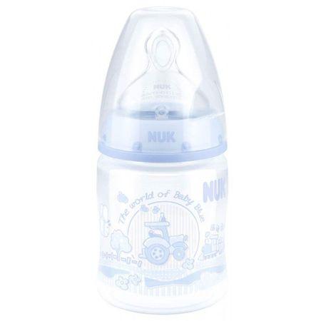 Nuk steklenička First Choice plus PP, 150 ml, silikon 1M modra