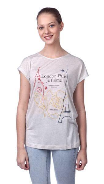 Pepe Jeans dámské tričko Thalia XL šedá