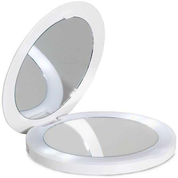 Lanaform Oboustranné zrcátko s LED osvětlením Oh Mirror