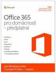 Microsoft Office 365 pro domácnost / Home Premium 32/64bit.Cz,předplatné na 1rok
