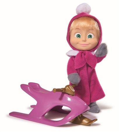SIMBA Lalka Masza i Niedźwiedź Masza na skuterze śnieżnym