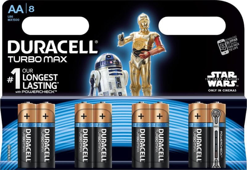 Duracell Turbo Max, AA, 8ks