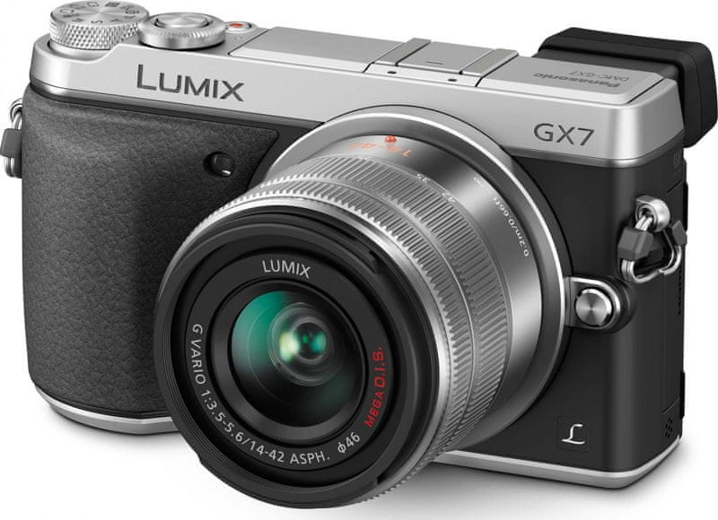 Panasonic Lumix DMC-GX7 + 14-42 mm Silver (DMC-GX7KEG-S)