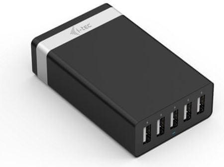I-TEC sieciowa ładowarka USB SMART 5 portow USB 40W/8A