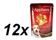 Applaws saszetki dla psa Chicken & Beef & Baby corn & Broccoli 12 x 150 g