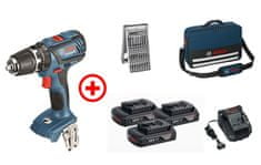 Bosch akumulatorski udarni vrtalni vijačnik GSB 18-2-LI Plus Pro, akcijski komplet (06019E7101)