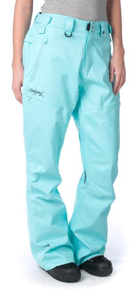 Nugget dámské snowboardové kalhoty Vivid L tyrkysová