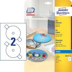 Avery Zweckform Etikete J8676-25 za označevanje CD/DVD medijev, super sizeEtikete J8676-25 za označevanje CD/DVD med