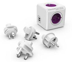 PowerCube kostka elektryczna ReWirable USB + Travel Plugs