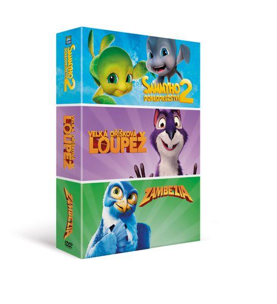 Animáky kolekce I. (3DVD): Velká oříšková loupež, Sammyho dobrodružství 2, Zambezia - DVD