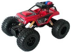 Maisto Rock Lánctalpas távírányítós autó 3XL, Piros