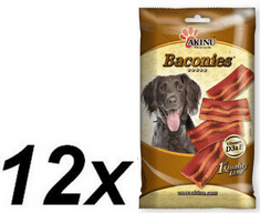 Akinu BACONIES slaninky pre psy 12 x 85g
