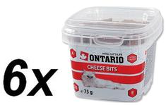 Ontario Snack Cheese Bits Jutalomfalat, 6 x 75 g