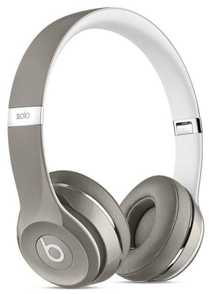 Beats by Dr. Dre Solo2 (Luxe Edition), stříbrná/bílá (MLA42ZM/A)