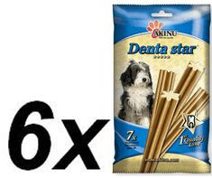Akinu DENTA STAR Rágórúd kutyáknak, 6 x 90 g