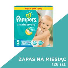 Pampers Active Baby, rozmiar 5, 126 sztuk