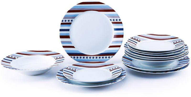 Renberg Set 18ks talířů, porcelán STARLINE