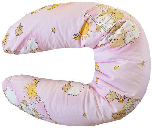 COSING Kojící polštář, Medvídek v oblacích růžová