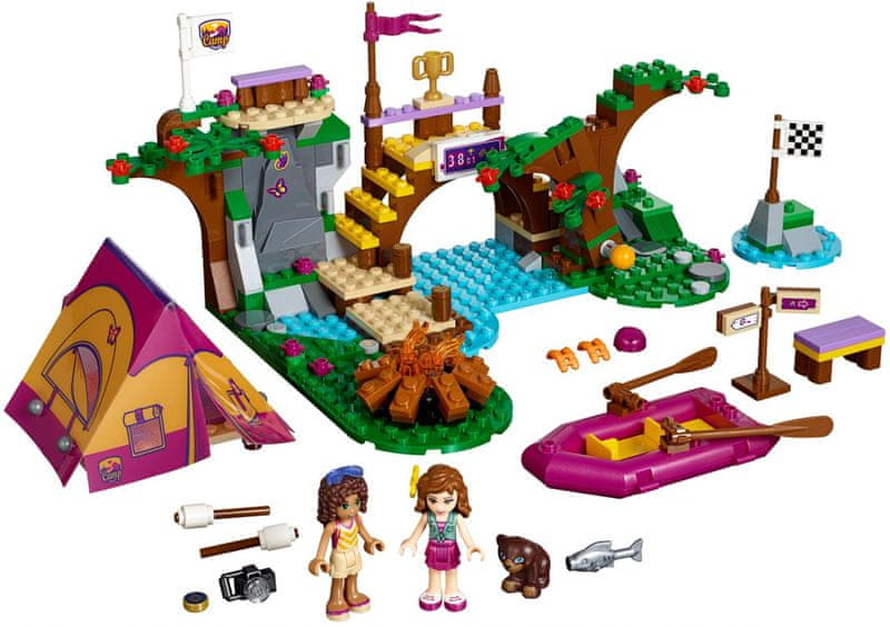 LEGO® Friends 41121 Dobrodružný tábor - jízda na divoké vodě
