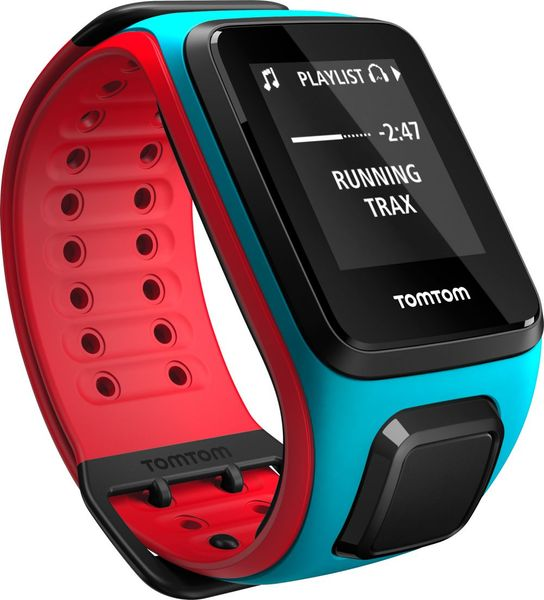 "TomTom Runner 2, Cardio Music, Scuba Blue Red, ""L"""