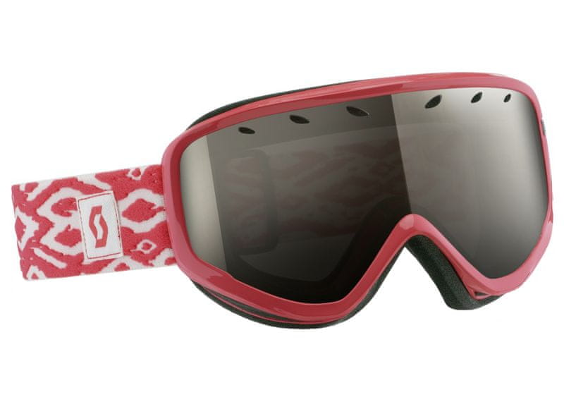 Scott Goggle Capri coral pink + black chrome