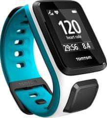 """TomTom Runner 2, Cardio GPS, White Scuba Blue, """"S"""""""