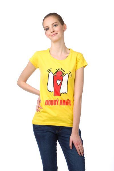 Dobrý Anděl dámské bavlněné tričko S žlutá