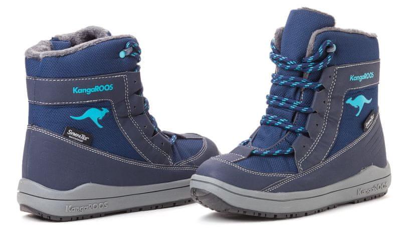 KangaROOS dětská kotníčková obuv Kanga - Tex 35 tmavě modrá