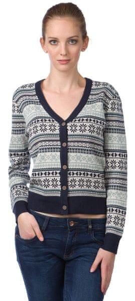 Brakeburn dámský svetr na knoflíky XL vícebarevná