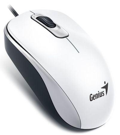 Genius DX-110, drátová, 1000 dpi, USB, bílá (31010116109)
