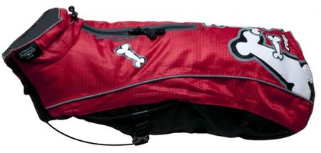 Rogz Skinz plašček za pse SnowSkin Red Bones, 25 cm